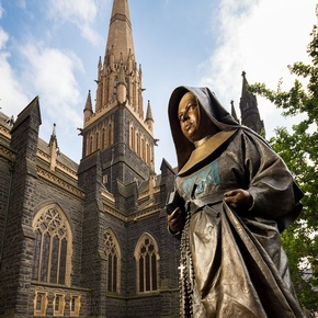 MMK statue at St Patrick's